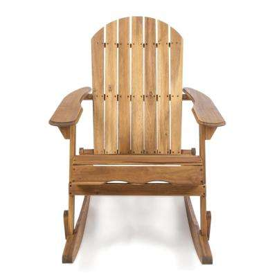 Rocking Natural Stained Wood Adirondack Chair