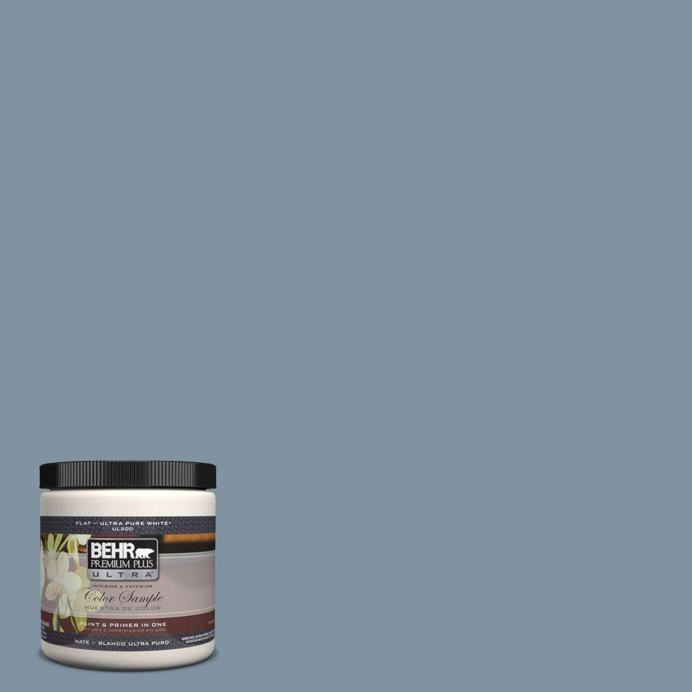 BEHR Premium Plus Ultra 8 oz. #UL230-6 Coastal Vista Interior/Exterior Paint Sample