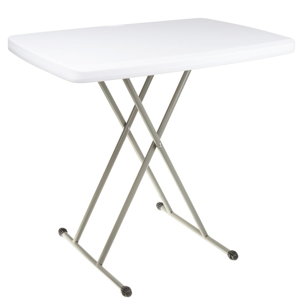 Everyday Home 30 In White Plastic Folding High Top Table