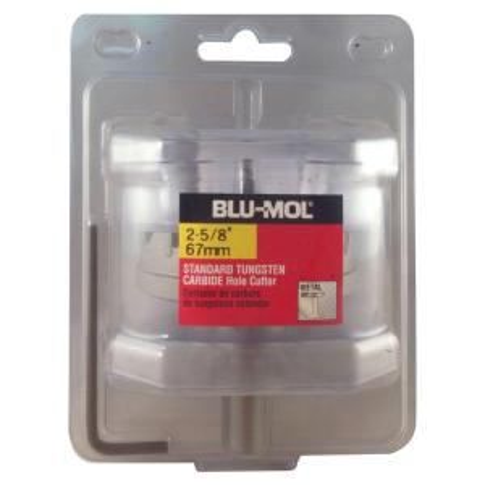 BLU-MOL 2-5/8 inch Standard Tungsten Carbide Hole Cutter by BLU-MOL