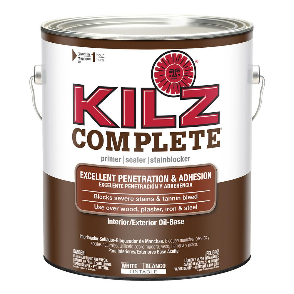 Kilz Complete 5 Gal White Low Voc Oil Based White Interior Exterior Primer Sealer And Stain