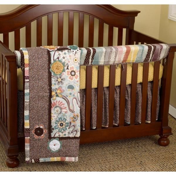 Penny Lane Cotton Striped Front Crib Rail Cover Up