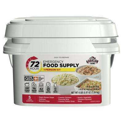 72-Hour 1-Person Emergency Food Supply Evacuation Pail 5 Varieties 25-Year Shelf Life