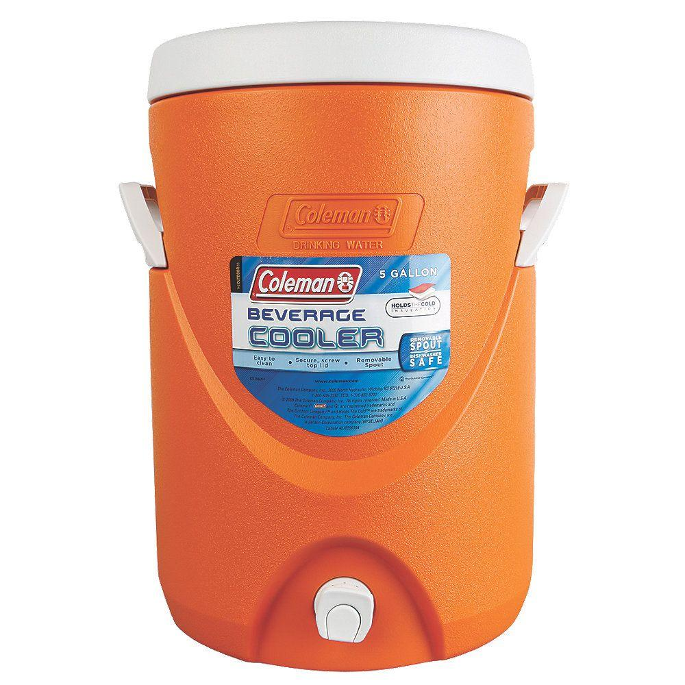 Coleman 5-Gallon Beverage Cooler, Orange