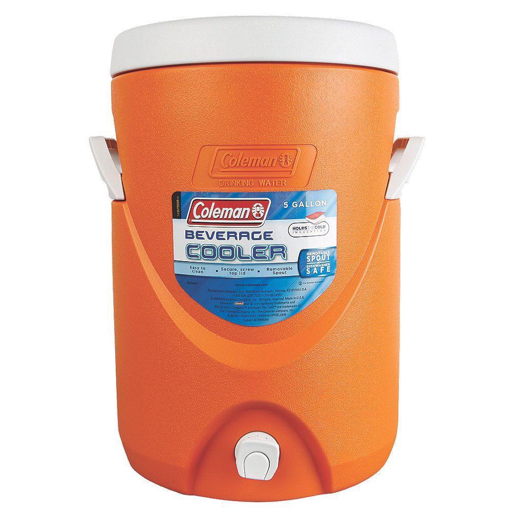 5-Gallon Beverage Cooler, Orange