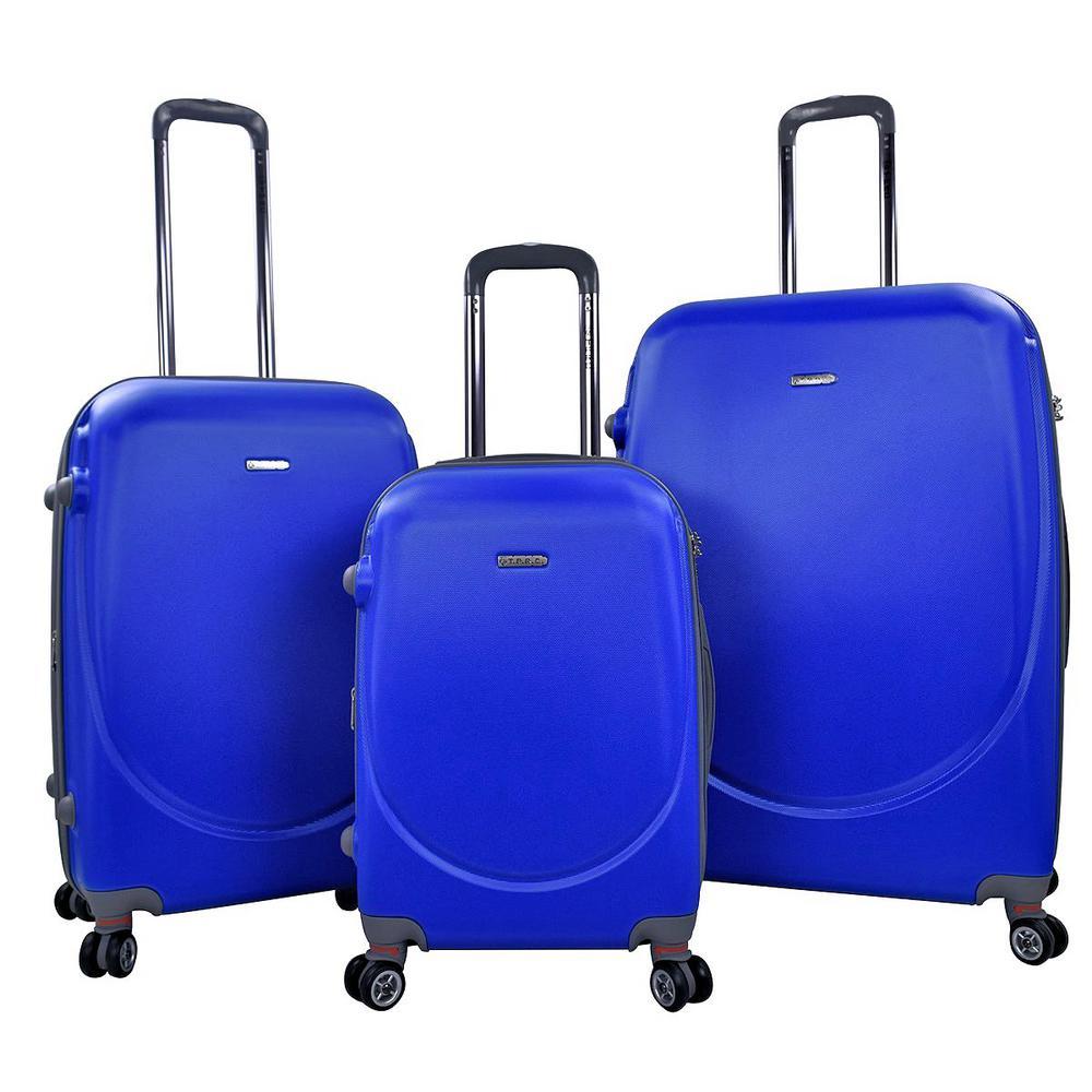 BARNET 2.0 3-Piece Cobalt Blue Hardside Expandable Vertical Luggage Set with Spinner Wheels