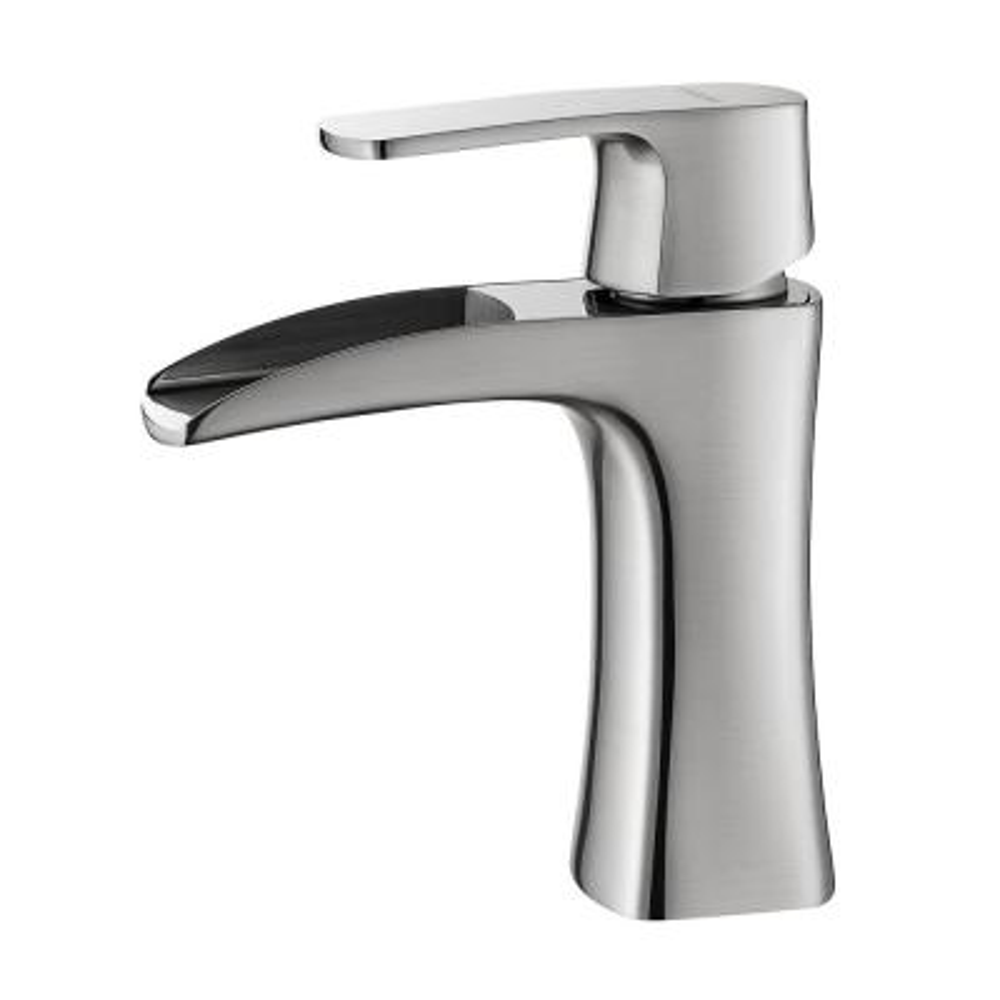 Alessandra Single Hole Single-Handle Bathroom Faucet in Brushed Nickel