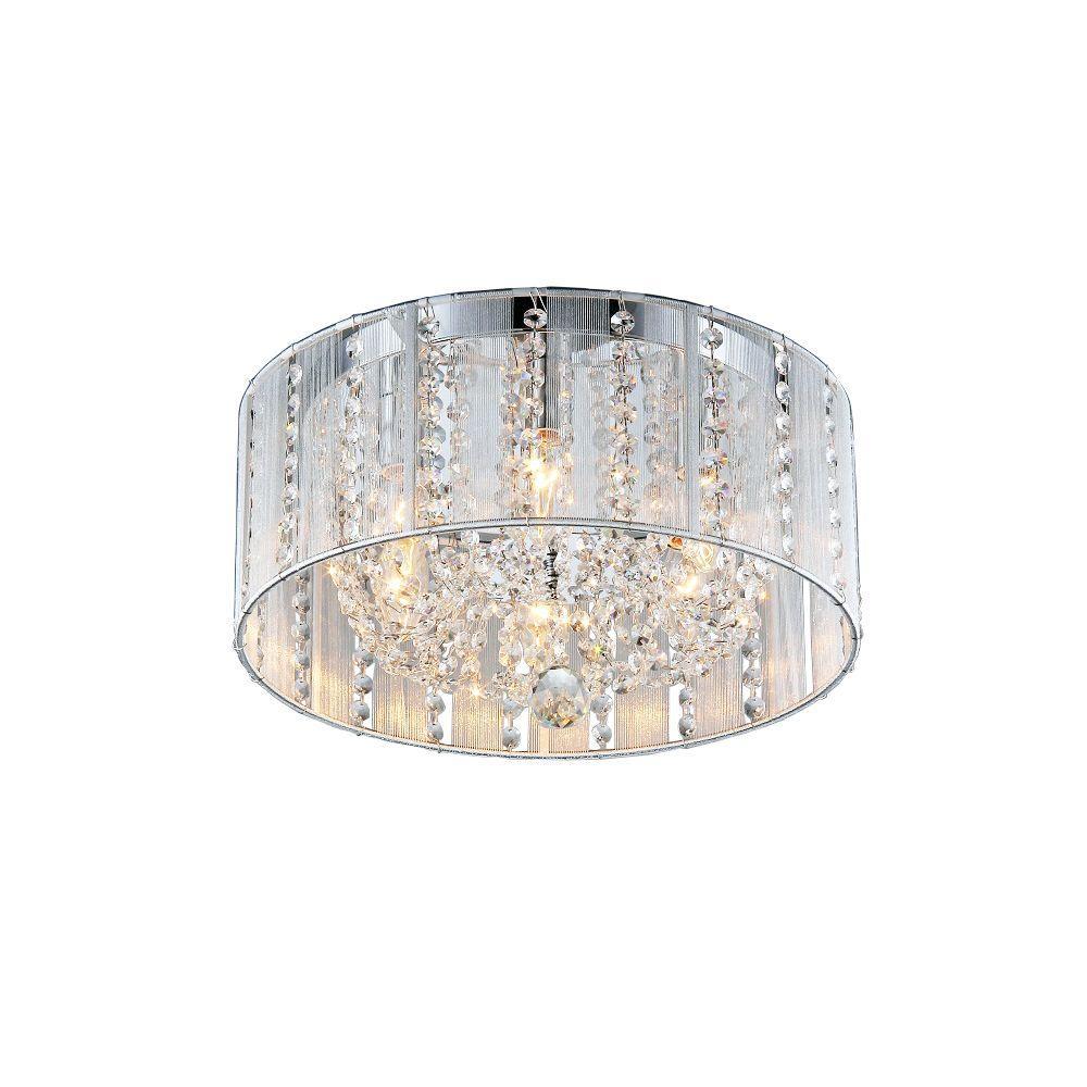 Addison 6-Light Chrome Indoor Crystal Flush Mount