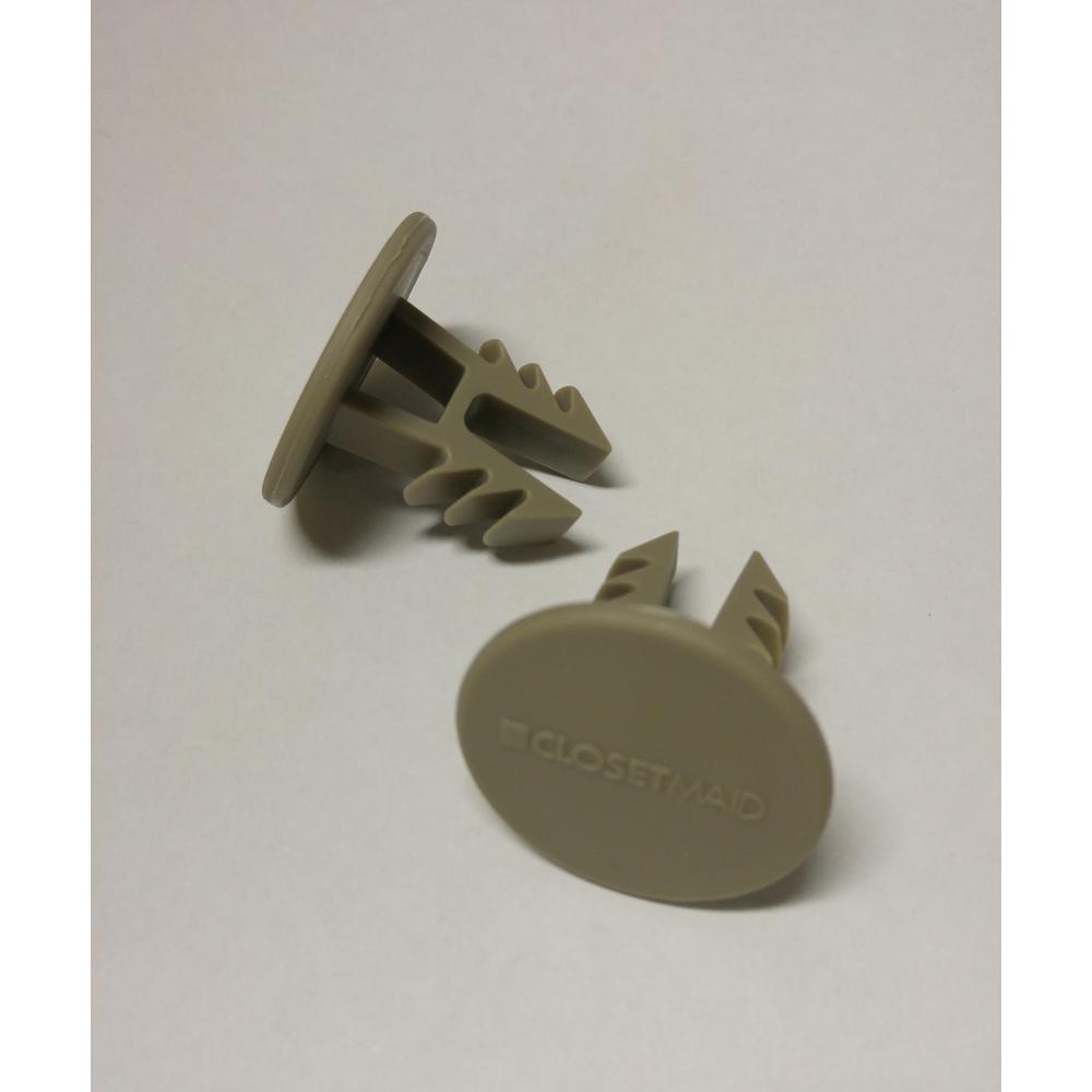 SuperSlide 1-1/4 in. Nickel Closet Rod end Caps (2-Pack)