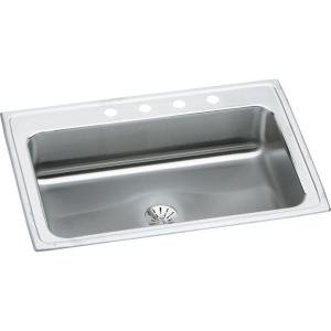 Elkay Lustertone Drop-in Stainless Steel 33 in. 1-Hole Single Bowl Kitchen  Sink-LRS3322PD1 - The Home Depot