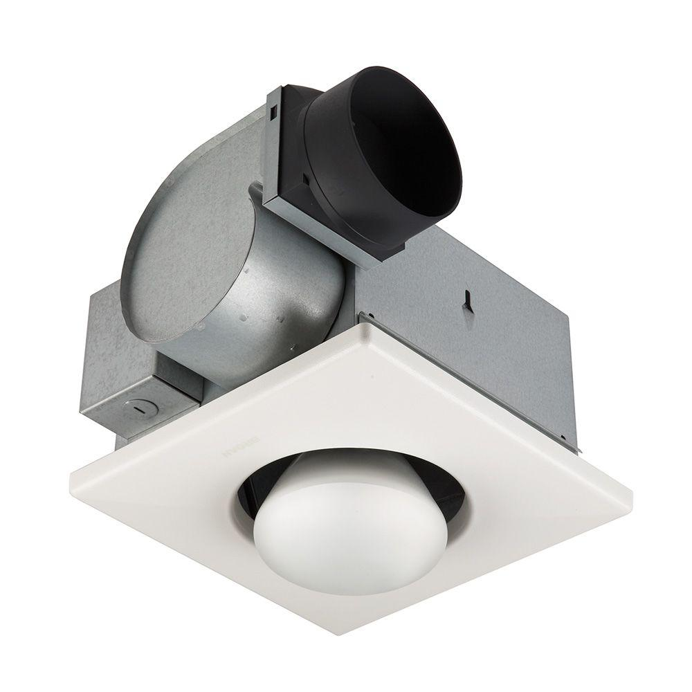 NuTone 70 CFM Ceiling Exhaust Fan with 1   250 Watt Infrared Bulb  Heater 9417DN   The Home Depot. NuTone 70 CFM Ceiling Exhaust Fan with 1   250 Watt Infrared Bulb