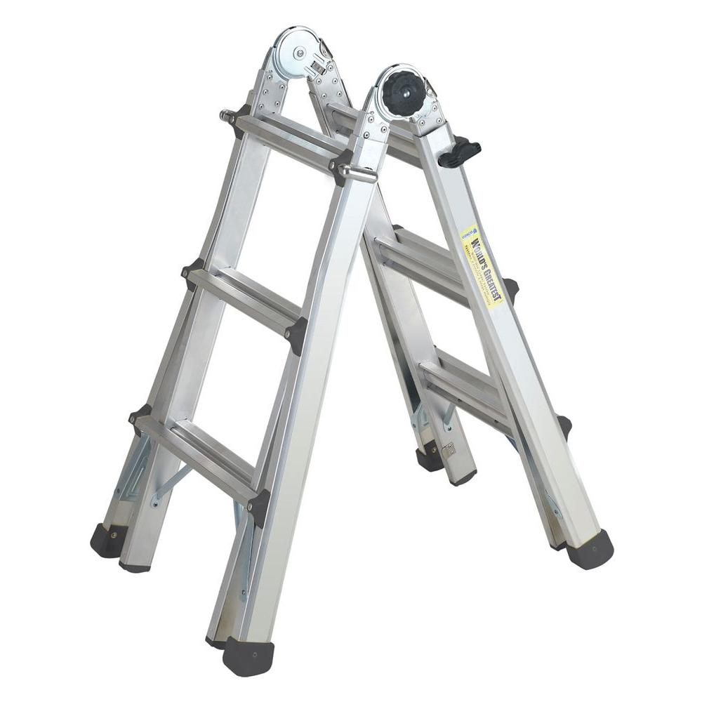 Cosco 13 ft. Aluminum World's Greatest Multi-Position Ladder with 300 lb. Load Capacity