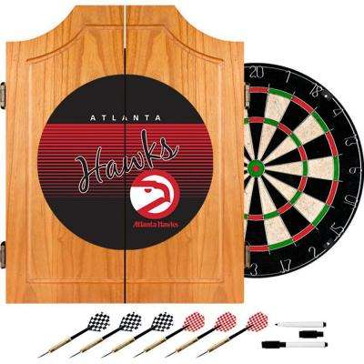 20.5 in. Atlanta Hawks Hardwood Classics NBA Wood Dart Cabinet Set