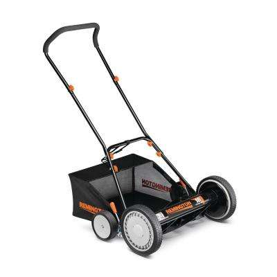 18 in. Manual Walk Behind Non-Electric Reel Mower with Bagger