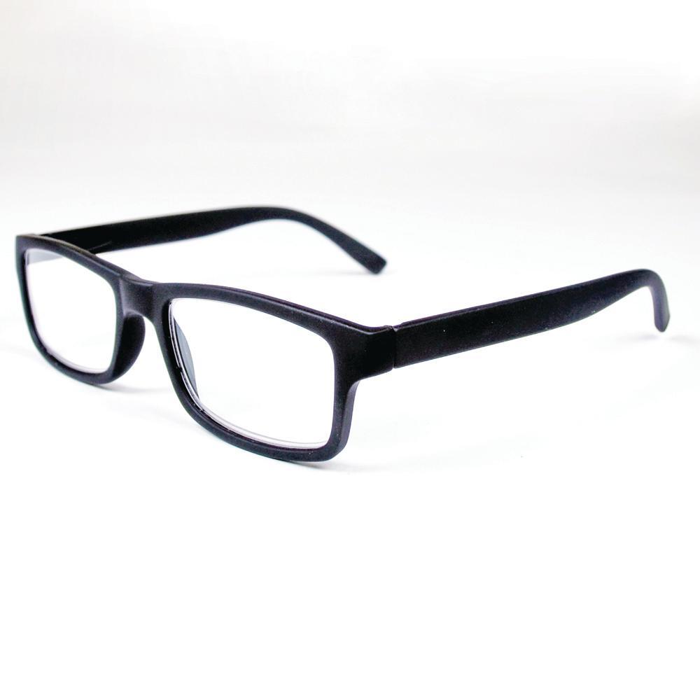 Reading Glasses 2.5 Magnification Retro Black (2-Pair, Case of 2)