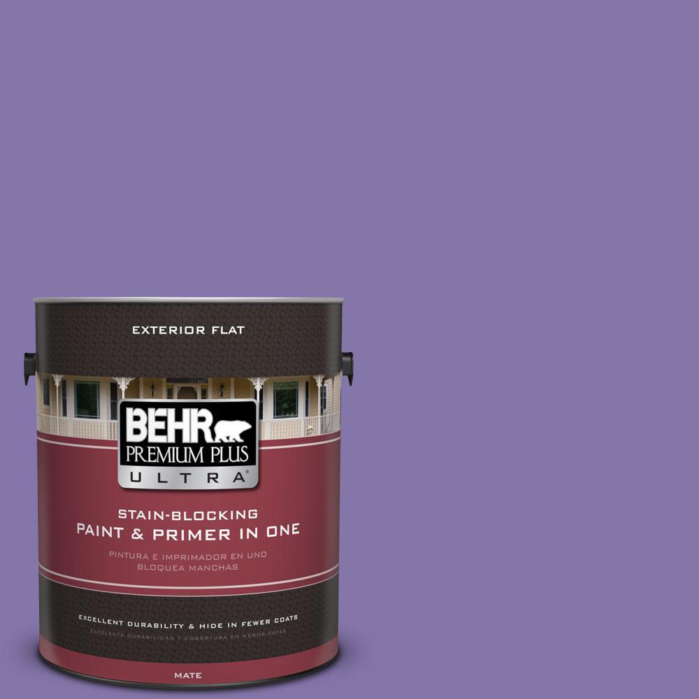 1-gal. #640B-6 Grape Parfait Flat Exterior Paint