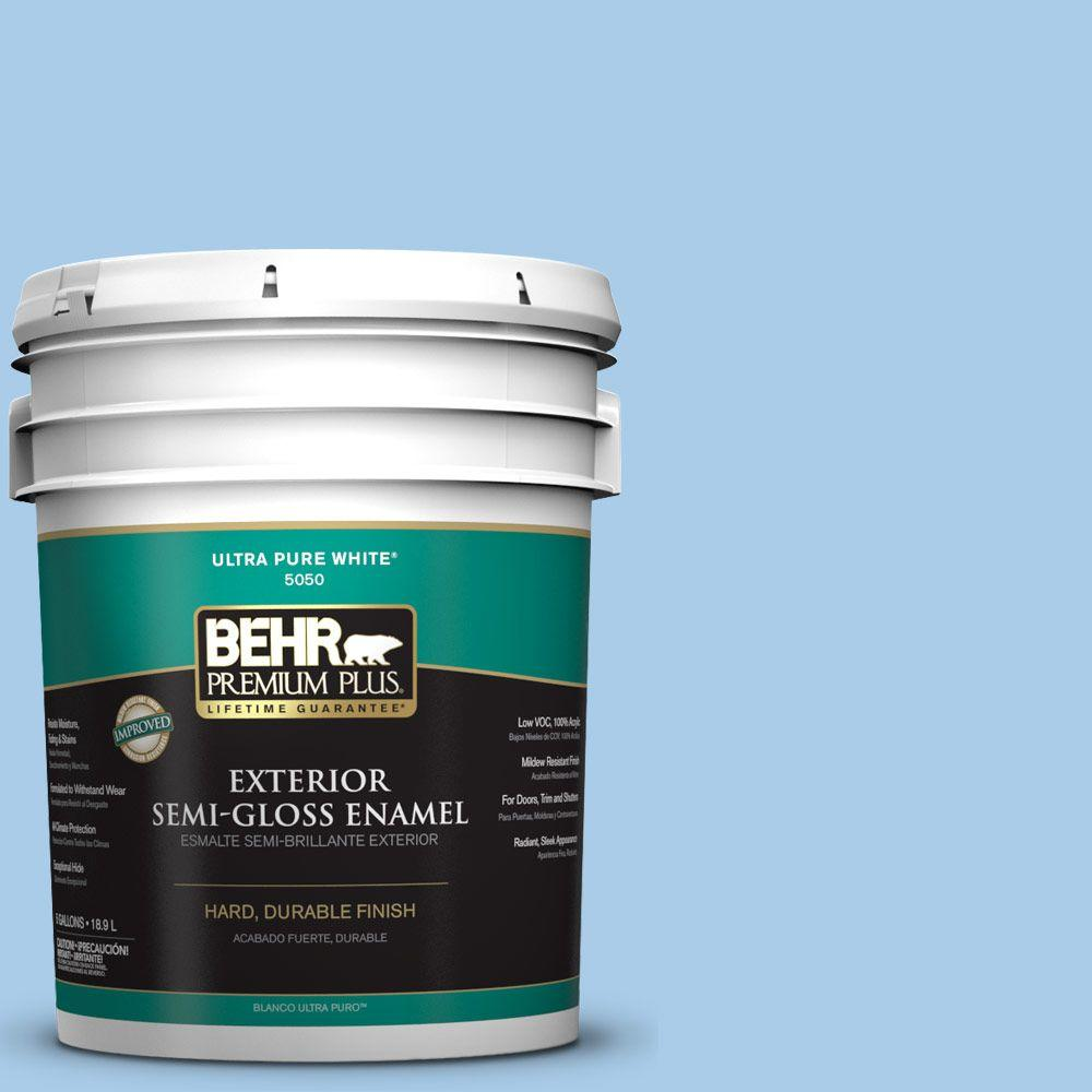 5-gal. #P520-2 French Porcelain Semi-Gloss Enamel Exterior Paint
