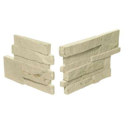 Exterior Stack Eastern Sand 7 in. x 13-1/2 in. Stone Corner Wall Tile (1.02 sq. ft. / Pack)