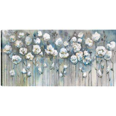 White Poppies, Floral Art, Fresh Printed Canvas Wall Art Decor Gallery Wrapped Wall Art