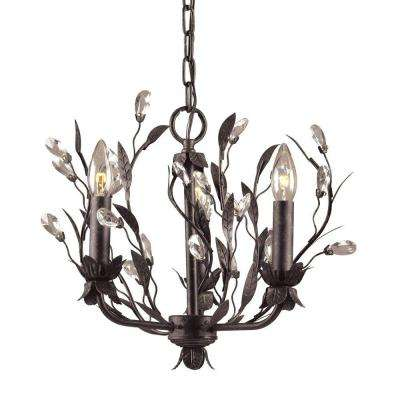 Circeo 3-Light Deep Rust Ceiling Mount Chandelier