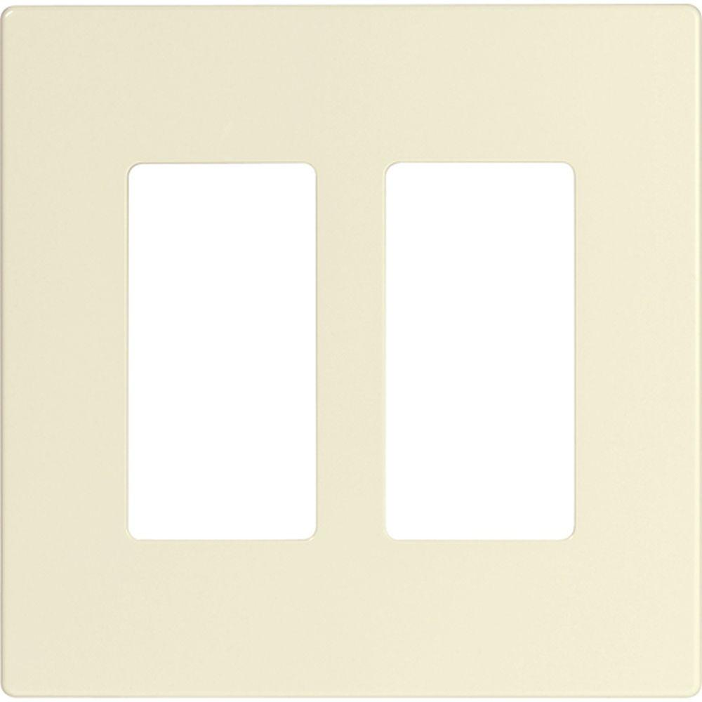 Eaton 2 Switch Decorator Duplex Nylon Wall Plate Light Almond Switches Cooper Wiring Devices 15amp Gray Double Pole