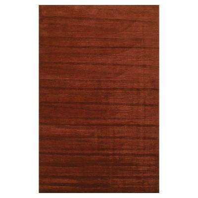 Solid Texture Brick 5 ft. x 8 ft. Area Rug