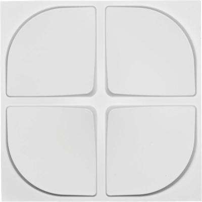 1 in. x 19-5/8 in. x 19-5/8 in. White PVC Franklin EnduraWall Decorative 3D Wall Panel