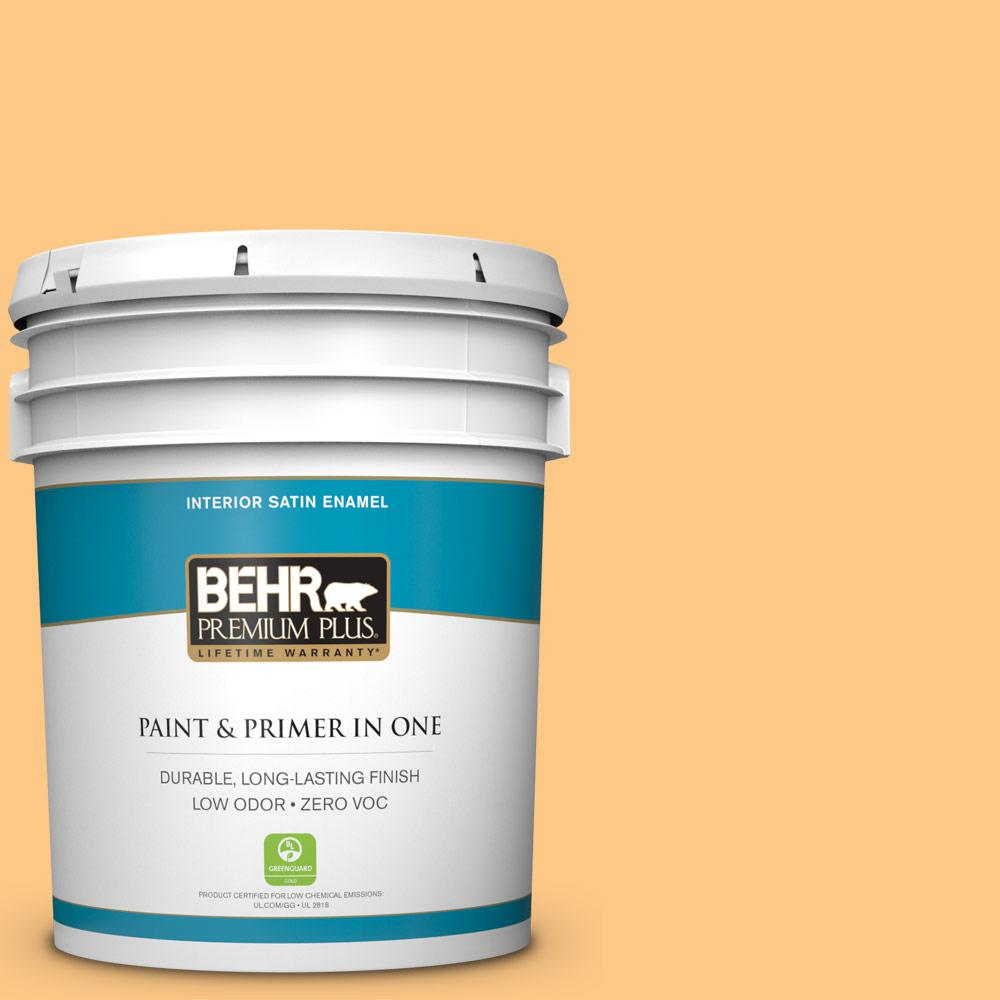 5 gal. #290B-5 Torchlight Satin Enamel Zero VOC Interior Paint and