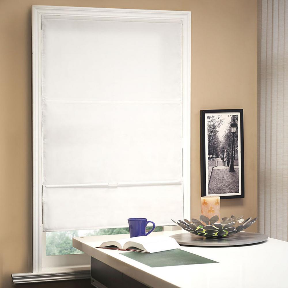 l allure powder light filtering horizontal fabric roman