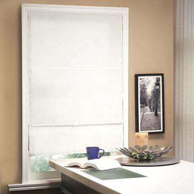 Cordless Magnetic Roman Shade / Window Blind Fabric Curtain Drape, Light Filtering, Privacy - Allure Fabric