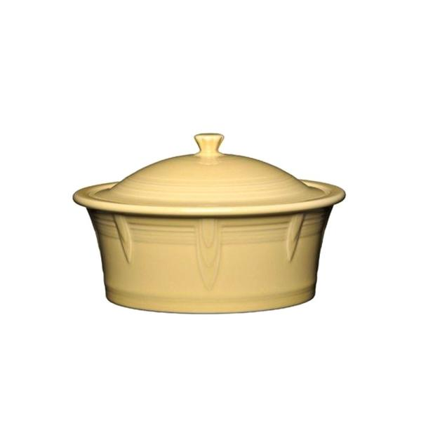 Fiesta 90 oz. Ivory Large Covered Casserole with Lid 1466330U