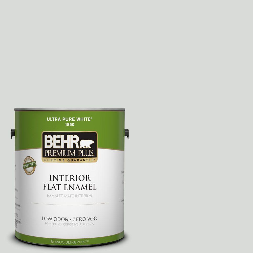 BEHR Premium Plus 1-gal. #PWN-67 Nurture Zero VOC Flat Enamel Interior Paint-DISCONTINUED