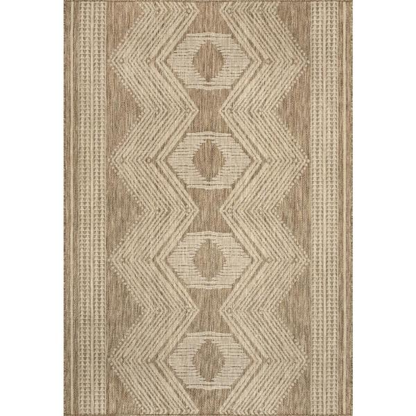Reviews For Nuloom Ranya Tribal Indoor Outdoor Light Brown 5 Ft X 8 Ft Area Rug Gbcb01a 508 The Home Depot