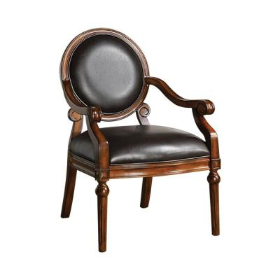 Tobacco Oak West Point Traditional Accent Chair
