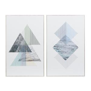 Blue Contemporary Canvas Wall Art (Set of 2)