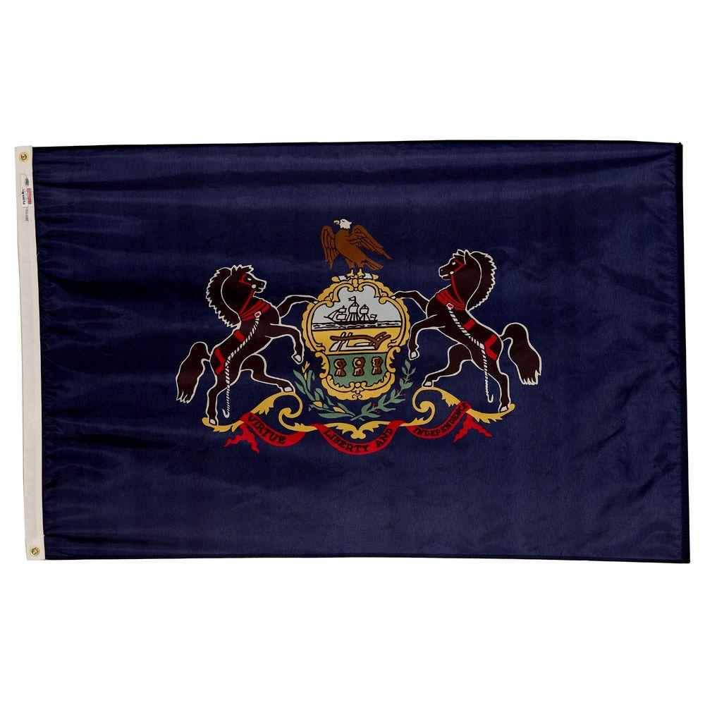 Valley Forge Flag 3 ft. x 5 ft. Nylon Pennsylvania State Flag