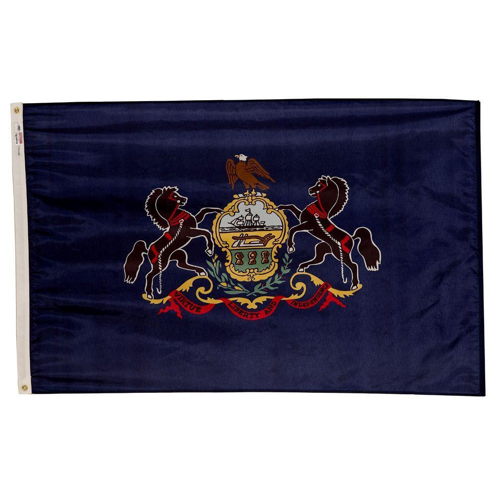 3 ft. x 5 ft. Nylon Pennsylvania State Flag
