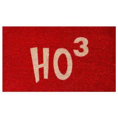 Ho Ho Ho 17 in. x 29 in. Coir Door Mat