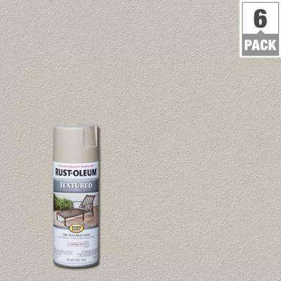 12 oz. Textured Sandstone Brown Protective Spray Paint (6-Pack)
