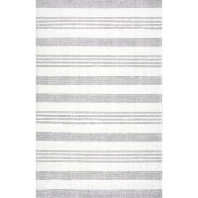 Kaylee Striped Gray 8 ft. x 10 ft. Area Rug