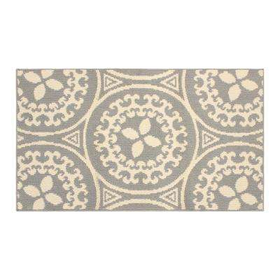Mimosa 36 in. x 60 in. Loop Accent Rug, Lt Grey/Ivory