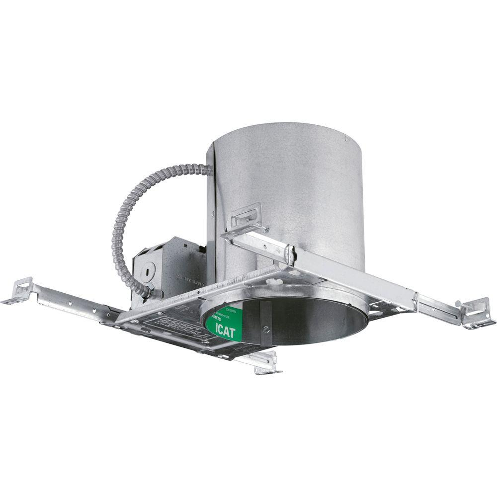 hot sales c0bc0 7da50 Progress Lighting 6 in. Metallic New Construction Recessed Housing,  Air-Tight, IC and Non-IC
