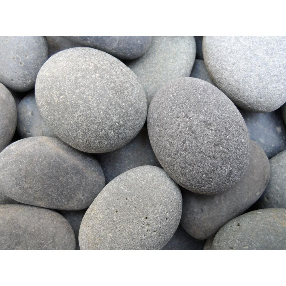Butler arts 1 in to 2 in black mexican beach pebble for Beach rocks for landscaping