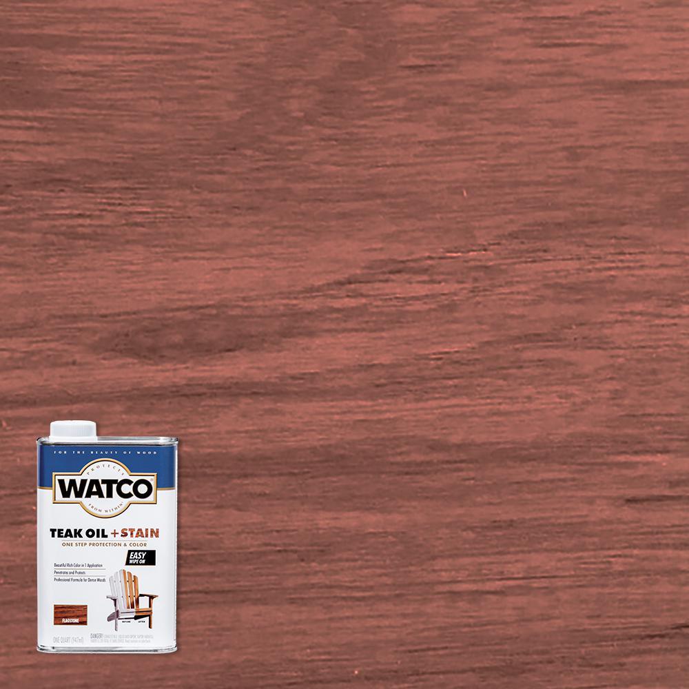 Watco 1 qt. Flagstone Teak Oil (4-Pack)