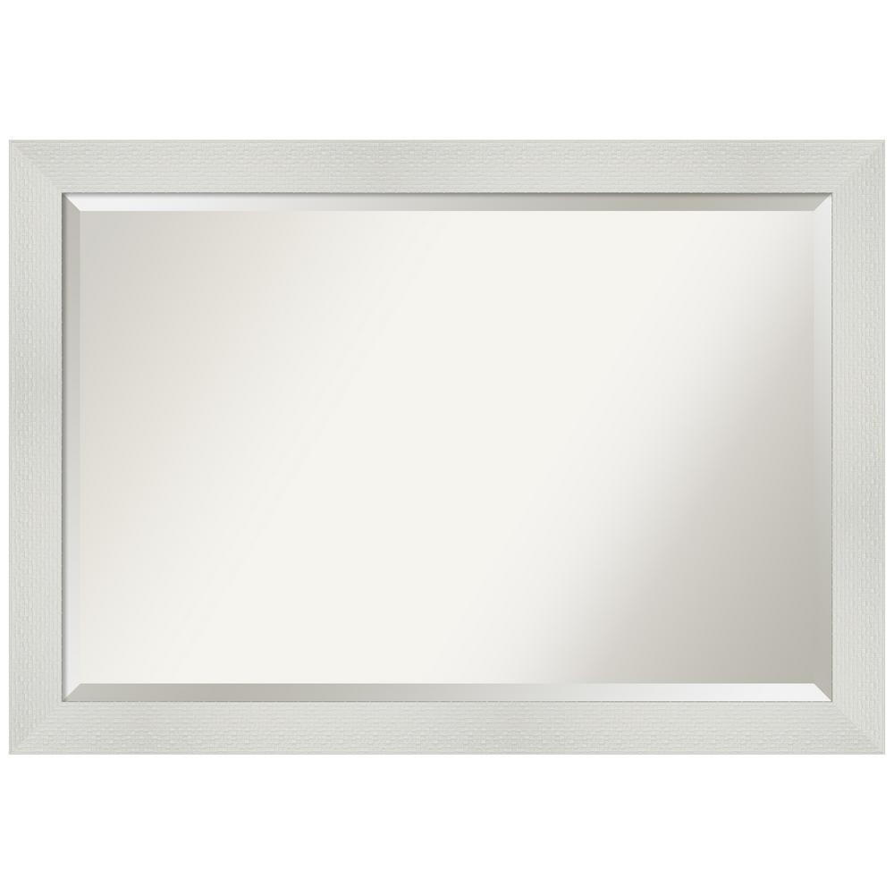 Mosaic White 40.25 in. x 28.25 in. Bathroom Vanity Mirror