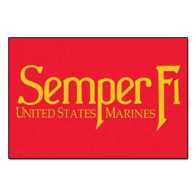 Marines 5 ft. x 8 ft. Area Rug