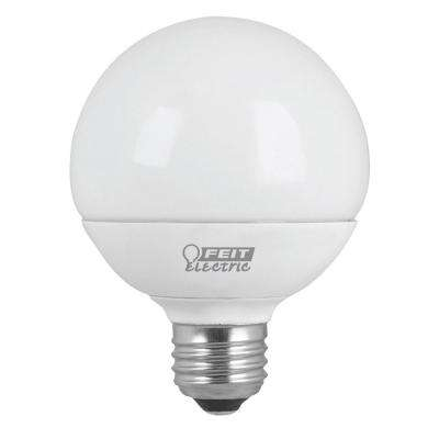 60W Equivalent Warm White (3000K) G25 Dimmable Frost LED Light Bulb (4-Pack)