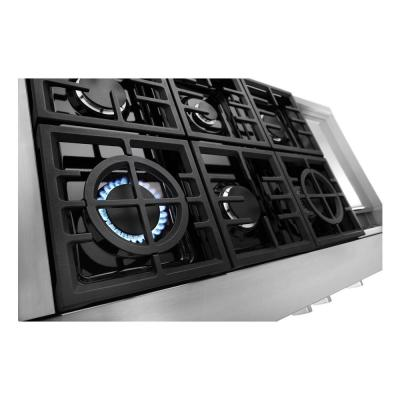 48 in. Gas Commercial Cooktop with 6-Burners in Stainless Steel