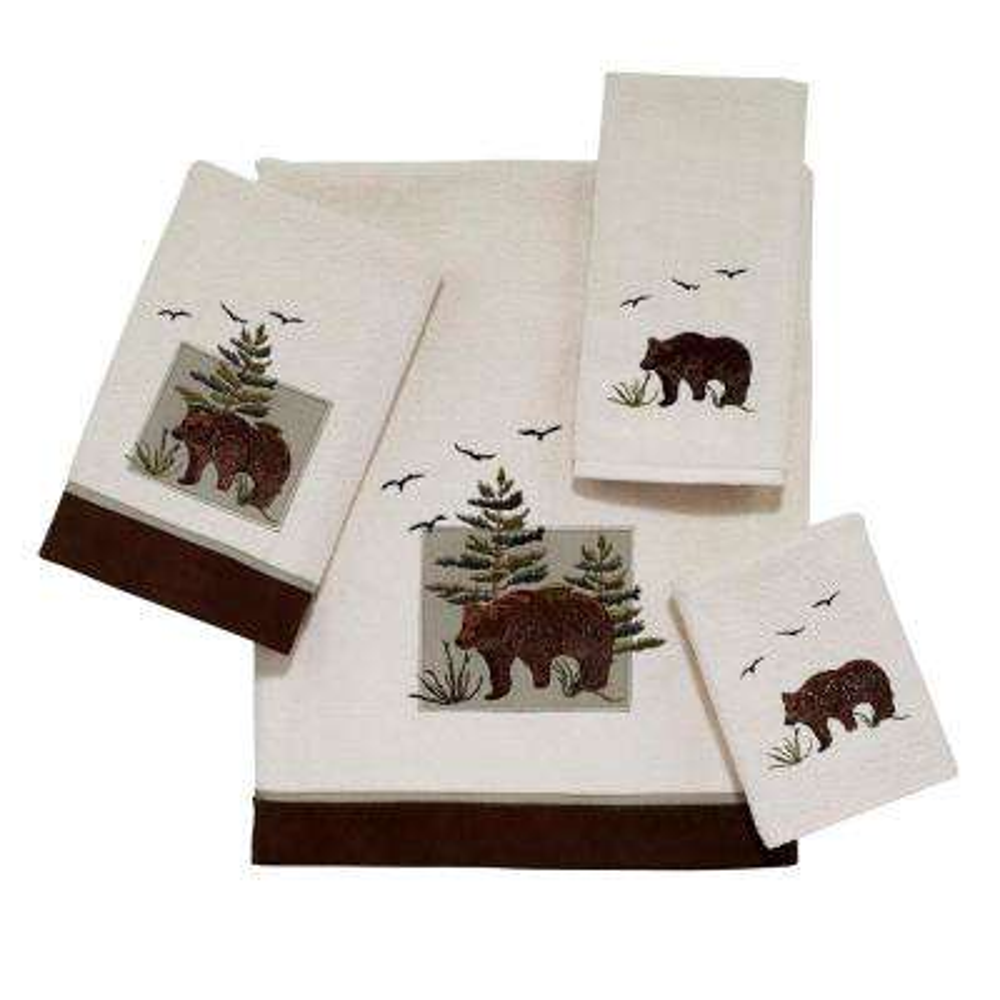 Bear Patch 4-Piece Bath Towel Set in Ivory