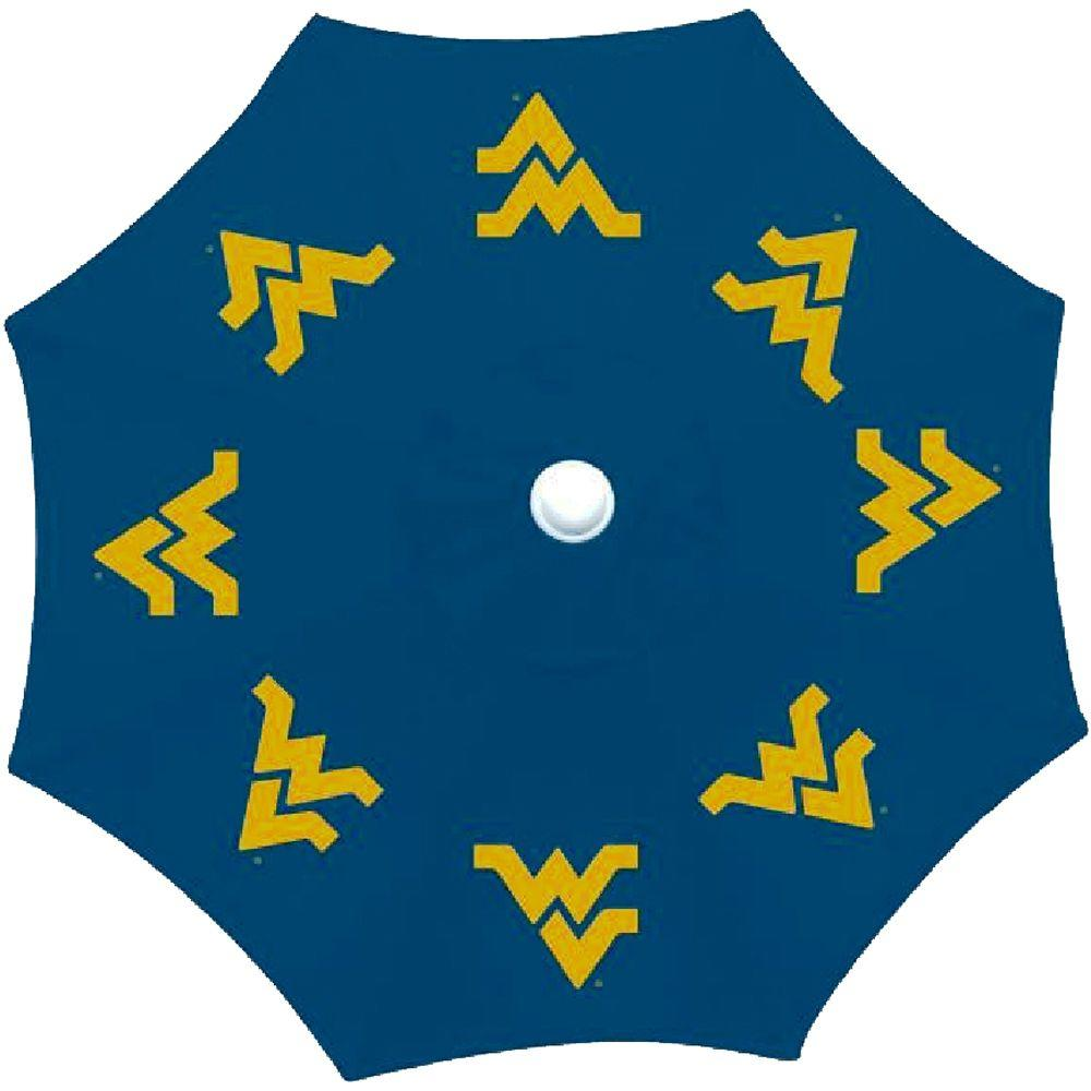 9 ft. West Virginia University Patio Umbrella in Blue